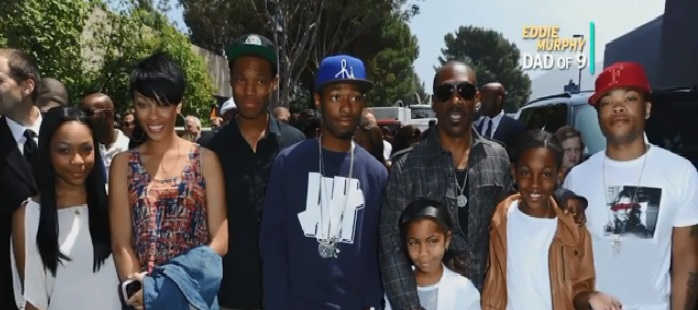 Eddie Murphy with Family