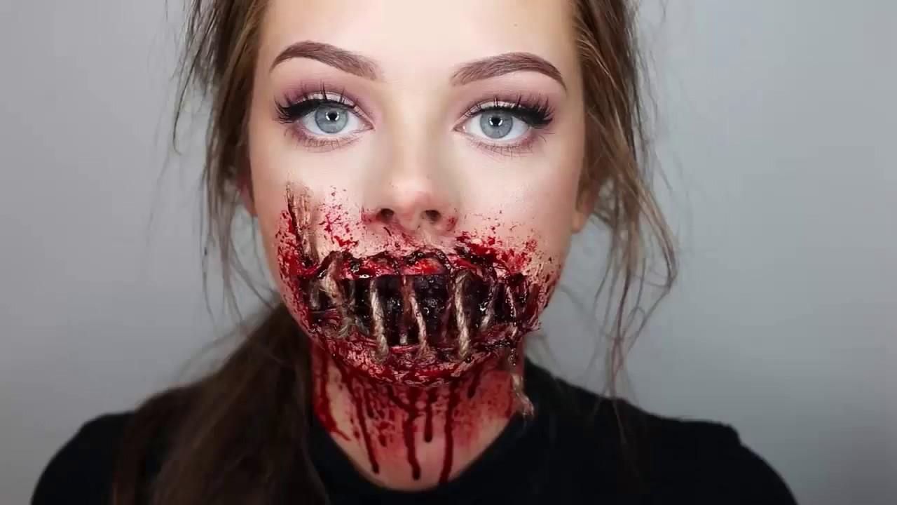 gross halloween makeup ideas a demonic effect on your friends