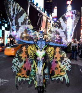 Heidi Klum 2014 Halloween look in butterfly costume is one of her best costumes for the evening.
