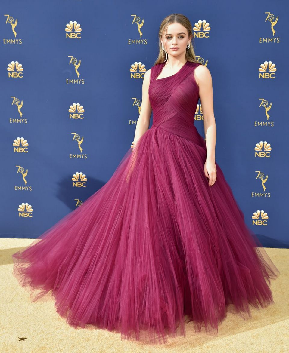 'The Kissing Booth' actress Joey King looked like a Disney princess in a Zac Posen Resort 2019 gown.