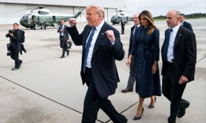 Trump and his wife in Shanksville