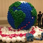 a giant balloon sculpture at the World Balloon Convention