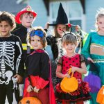 children dressing on Halloween