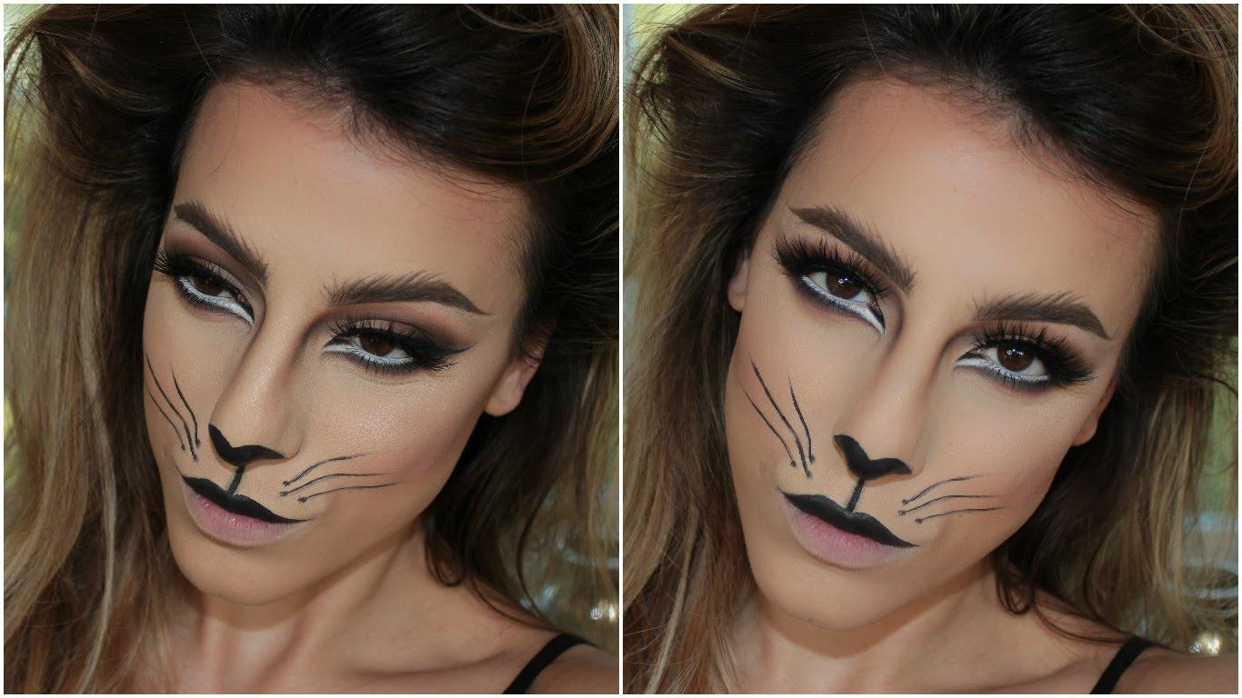 halloween cat makeup 2018