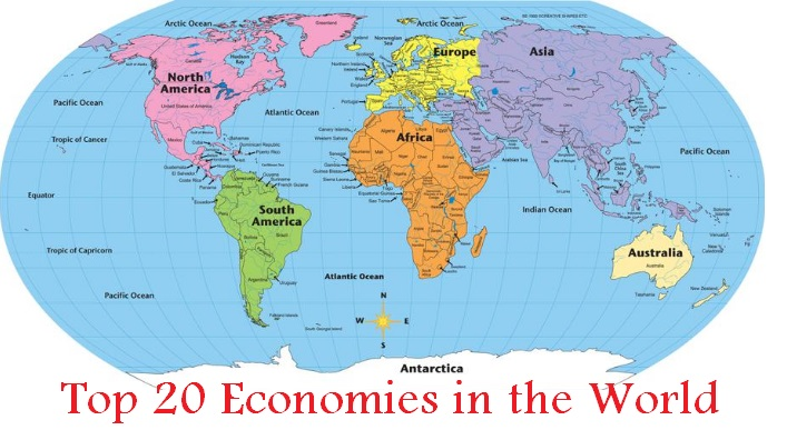 Top 20 economies in the world