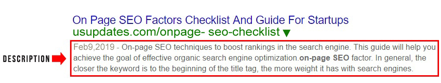 seo friendly description