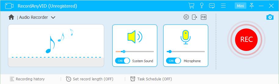 Adjust Audio Recording Settings