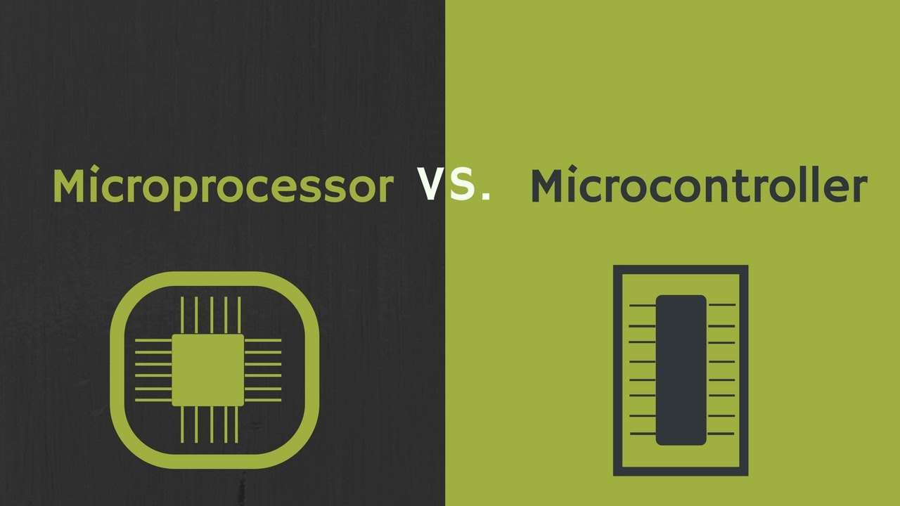 difference between microprocessor and microcontroller