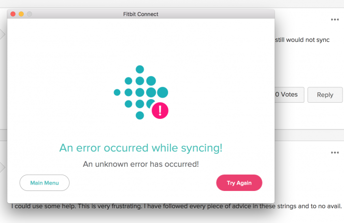 fitbit not syncing