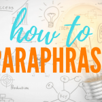 Paraphrasing Tool for a Master's Thesis
