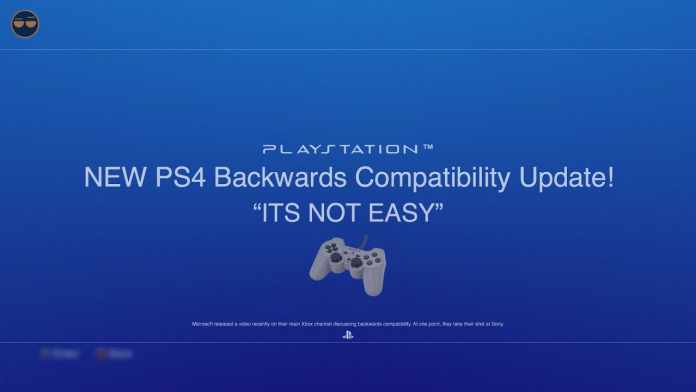 is ps4 backwards compatible