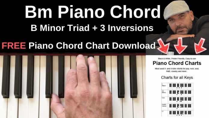 bm piano chord